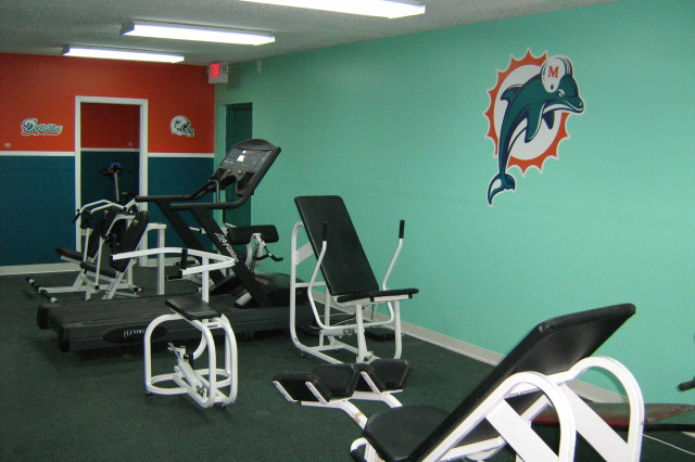 Miami Dolphins Fitness Center at NFL YET Miami